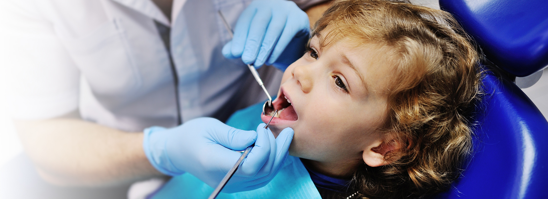 child getting a dental checkup